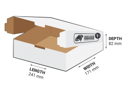 1kg Courier Carton 3.38L White Flat Rate Shipping Box.