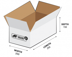2kg Courier Carton 7.50L White Flat Rate Shipping Box.