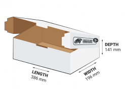 3kg Courier Carton 10.7L White Flat Rate Shipping Box.