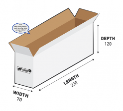 500g Courier Carton 1.93L Flat Rate Shipping Box.