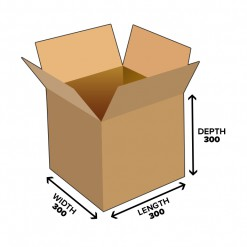 27L Cube Shipping Carton Box