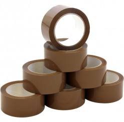 Brown Packing Tape. Sold in sleeves of six rolls.