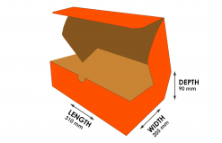 2B-M529O: Orange Mail Style Courier Carton